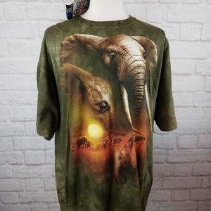 NWT Vintage 2000 Elephant All-Over Print T-Shirt